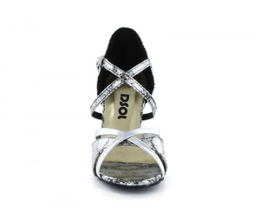 Black & Silver Patent leather Sandal  LS174005