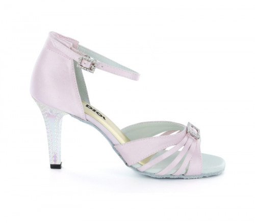 Light Pink Satin Sandal with Width-Adjusted Buckle LS174203