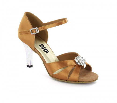 Tan Satin Sandal with  LS174401