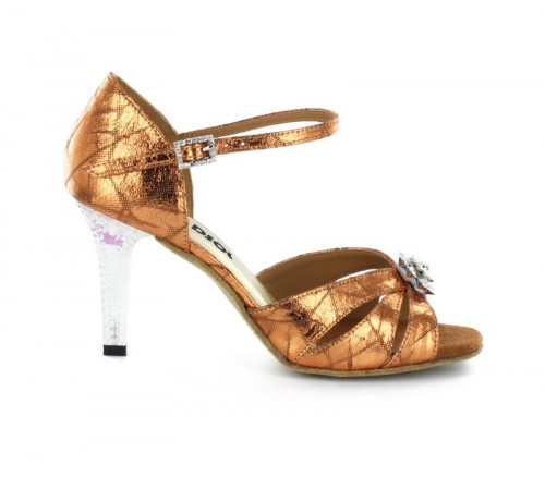 Brown Patent Leather Sandal LS174404