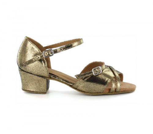 Gold Patent Sandal with Width-Adjusted Buckle LS175007