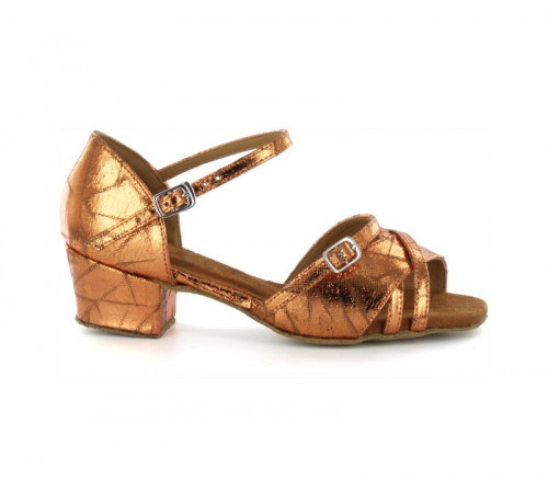 Brown Patent Sandal  with Width-Adjusted Buckle LS175008