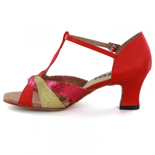 Red Satin & Sparkle Sandal 177901