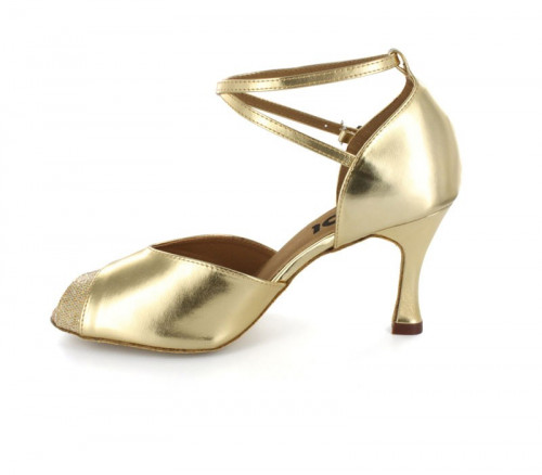 Gold patent leather with colorful glitter Sandal  LS270102