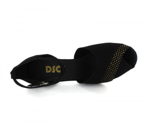 Black Nubuck with White spots Sandal  dc_LS270103