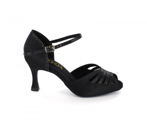 Black Satin Close-toe  LS270901