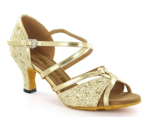 Gold Synthetic Leather Sandal  A273701