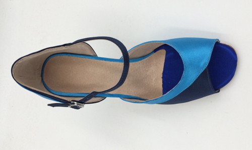 Light & Dark Blue Satin Sandal adls285301