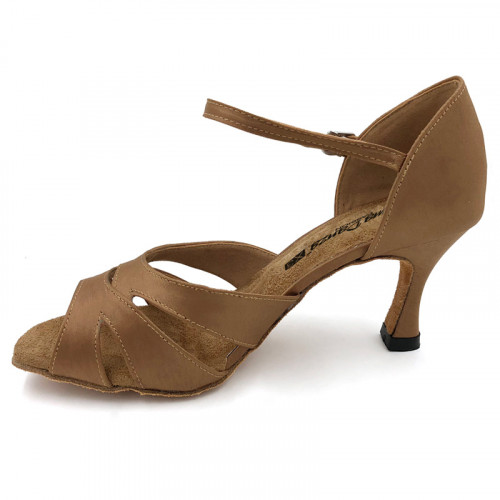 Brown Satin Sandal adls289001