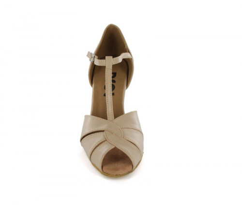 Beige Patent Close-toe  LS600608