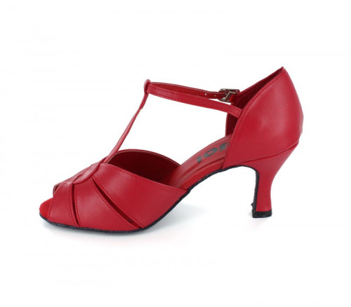 Red Imitated Leather Close-toe  LS600613