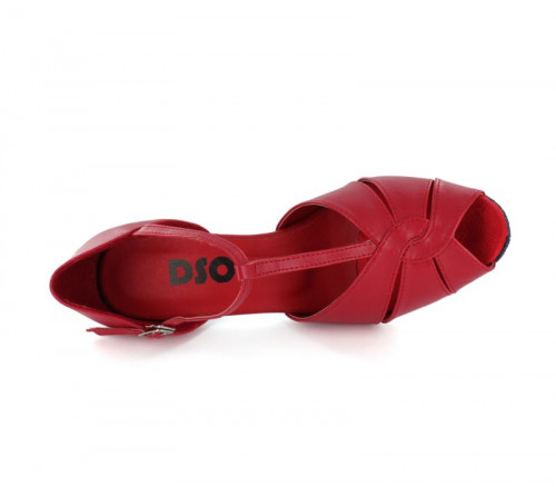 Red Imitated Leather LS600613
