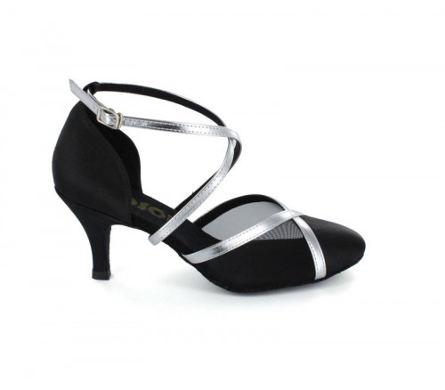 Black Satin & Mesh Close-toe  LP681602