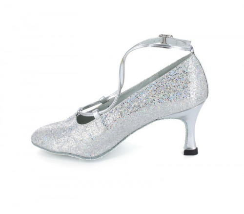 Silver Glitter with Patent Pump  LP682005