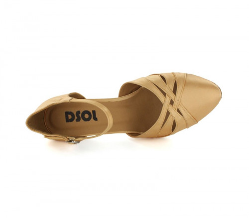 Tan Satin Close-toe  LP683009-1