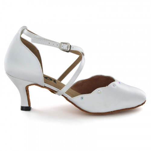 White Satin Pump  LP683903-1