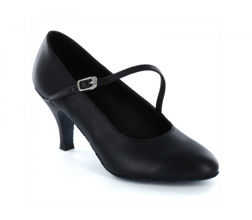 Black leather Pump  LP685206