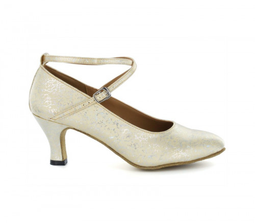 Yellow & silver patent Pump  LP685303