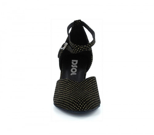 Black satin with dots Pump  dc_LP685603