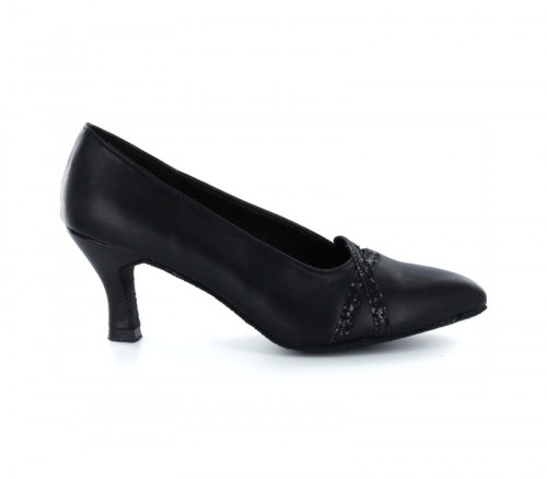 Black leather Pump  LP691203