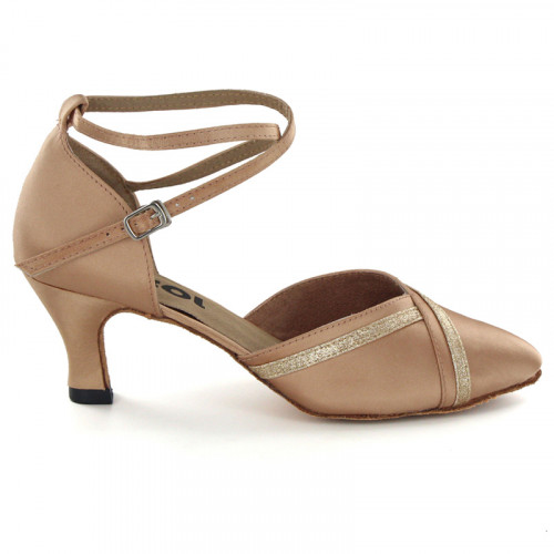Light Brown Satin Pumps 691601