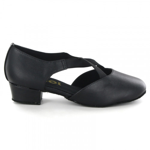 Black leather Pump  LP730701