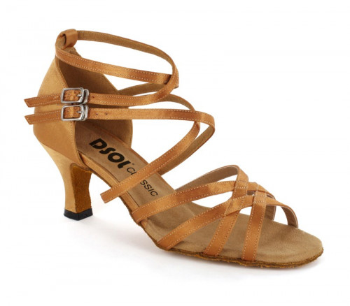 Tan satin Sandal  dcls262104