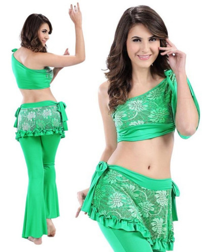 87a7591143e58 Green Micro Fiber   Lace 2-Piece Set Belly Dress BED-PS2008-03