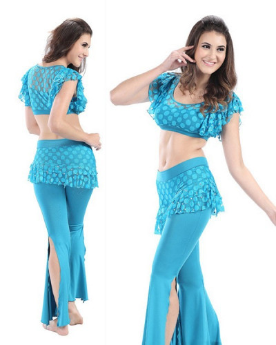 dfb055dc942a3 Blue Spandex   Mesh 2-Piece Set Belly Dress BED-PS2014-01