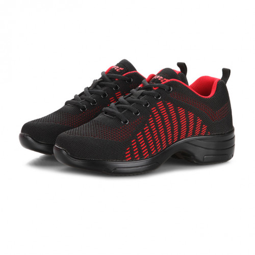 Black & Red Net Dance Sneaker DS670002
