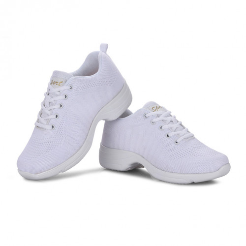 White Net Dance Sneaker DS670003