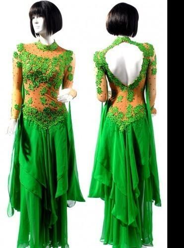 f76f84d14217 Green Lace & Chiffon Dress SZ-HYJ-B139