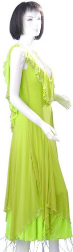 Light Green Chiffon Dress  SZ-HYJ-B149