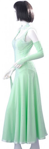 Light Green Lycra & Chiffon Gown  SZ-HYJ-B212